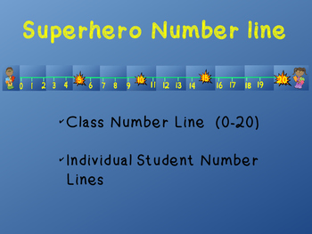 Superhero Number Line