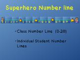 Superhero Number Line
