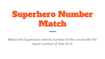 Superhero Number Match