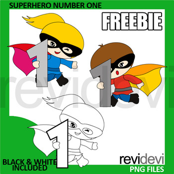 Superhero Number One Free Clipart - Commercial clip art