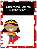 Superhero Number Posters 1-20