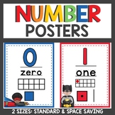 Superhero Themed Number Posters