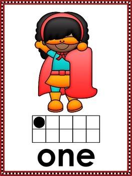Superhero Number Posters