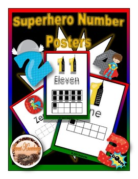 Superhero Number Posters