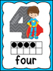 Superhero Number Posters And Table Numbers