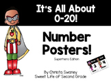 Superhero Number Posters : It's All About 0-20