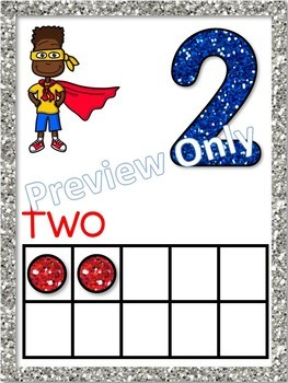 Superhero Number Posters to 20