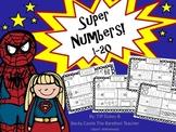 Superhero Number Practice Sheets 1-20