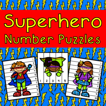 Superhero Number Sequencing Puzzles
