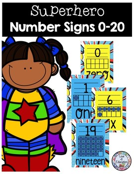 Superhero Number Signs