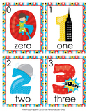 Superhero Number Words Write the Room Activity