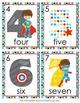 Superhero Number Words Write the Room Activity