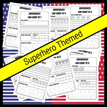 Superhero Number Workbook 1-20 No Prep