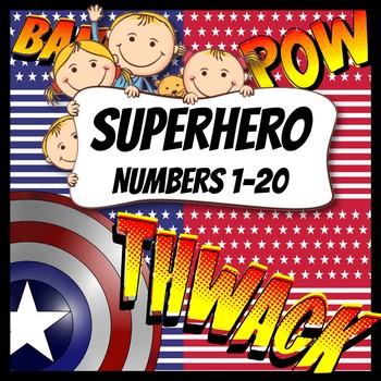 Superhero Number Workbook 1-20 No Prep