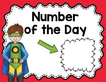 Math Meeting Posters Superhero Theme