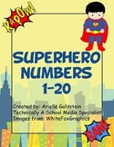 Superhero Numbers 1-20