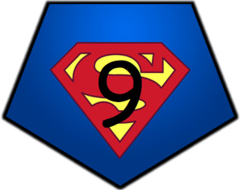 Superhero Numbers 1-30 Bunting