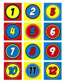 Superhero Numbers Circular (Super Hero Theme)
