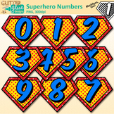 Superhero Math Numbers Clip Art: Free Math Graphics {Glitt