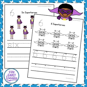 Superhero Numbers Worksheet Packet