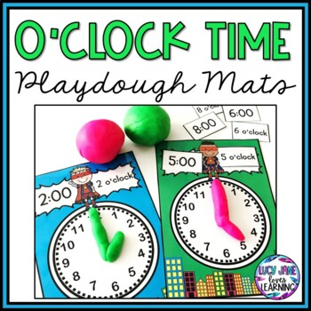 Superhero O'clock Time Playdough Mats