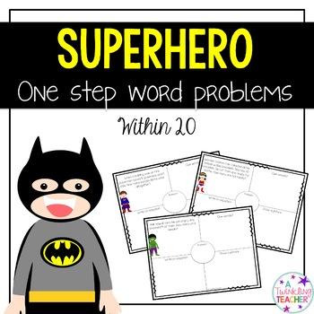 Superhero One Step Word Problems