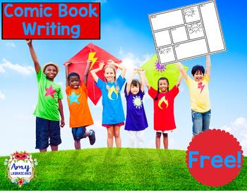 Superhero Onomatopoeia Comic Book Writing Freebie