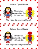 Superhero Open House Invitation-Editable