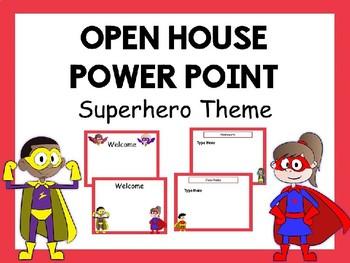 Superhero Open House Power Point #2