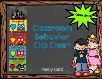 Superhero Owl Behavior Clip Chart!