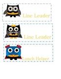 Superhero Owl Classroom Jobs