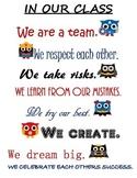 Superhero Owl Classroom Sign