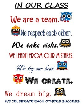Superhero Owl Classroom Sign