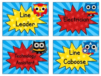 Superhero Owl Job Cards