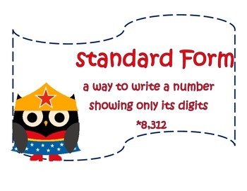 Superhero Owl Math Posters