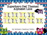 Alphabet Line: Superhero Owl Themed