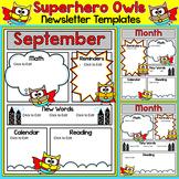 Superhero Owls Theme Newsletter Template