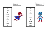 Superhero Oxford Sight Words Levels 1-34