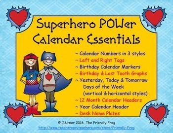 Superhero POWer Calendar Essentials