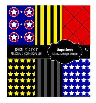 Superhero Paper Pack