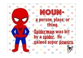 Superhero Parts of Speech Anchor Charts