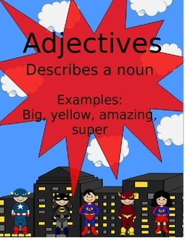 Superhero Parts of Speech Posters
