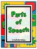 Superhero Parts of Speech