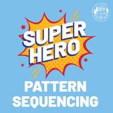 Superhero Pattern Sequencing Worksheet