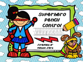 Superhero Pencil Control
