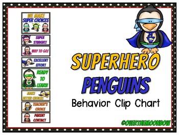 Superhero Penguins   Behavior Clip Chart