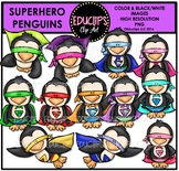 Superhero Penguins Clip Art Bundle {Educlips Clipart}
