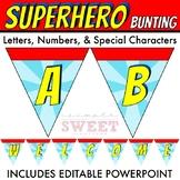 Superhero Pennant Bunting Banner ***EDITABLE***