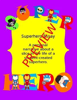 Superhero Personal Narrative Essay