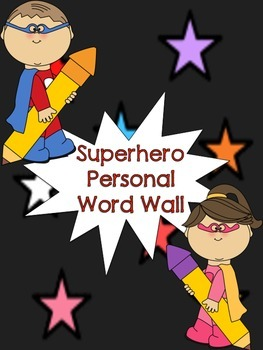 Superhero Personal Word Wall